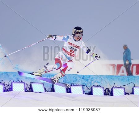 Skier Lara Gut At A Slalom Event