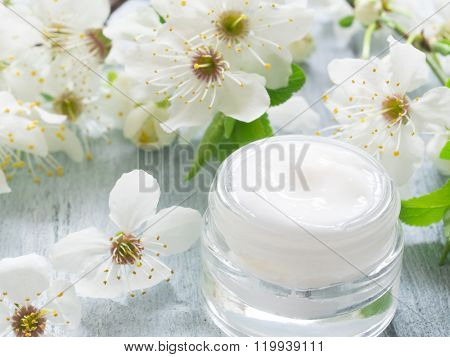 natural facial cream with spring blossom, Fresh as Spring Flowers