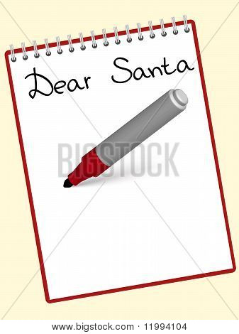 notepad dear santa