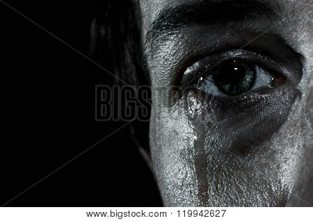 Crying Female Eye