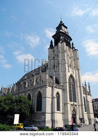 Church Of Our Lady Of La Chapelle In Brussels, Belgium.
