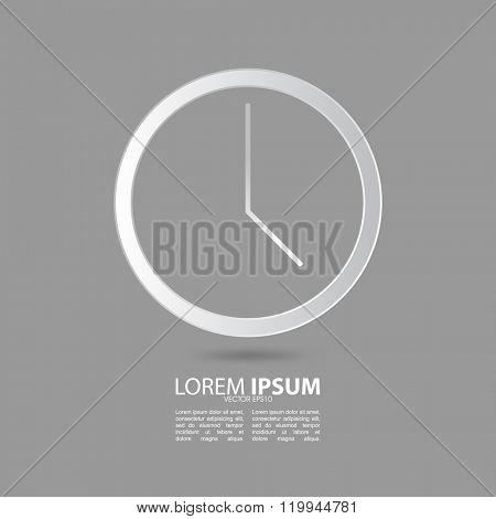 clock vector drawing design