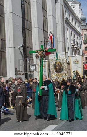 Brotherhood Marching In Valladolid