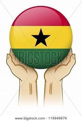 Pray For Ghana Illustration