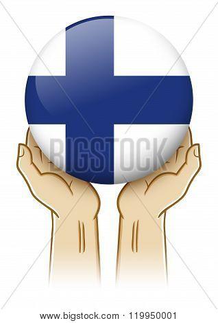 Pray For Finland Illustration