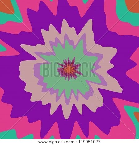Psycho Floral Pattern Generated Texture
