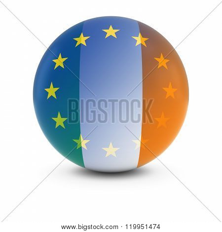 Irish And European Flag Ball - Fading Flags Of Ireland And The Eu