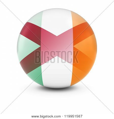 Irish And Northern Irish Flag Ball - Fading Flags Of Ireland And Northern Ireland