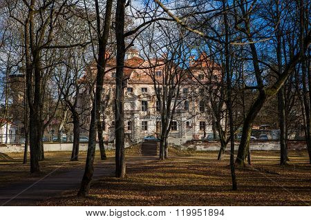 Sapieha Palace Ant The Park In Vilnius, Lithuania