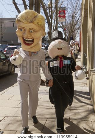 Hillary And Mr. Monopoly Being Overtaken By Bernie Supporters