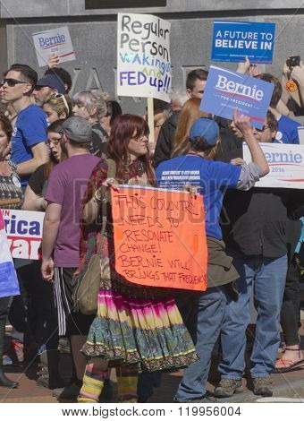 Bernie Sanders Signs Of Change