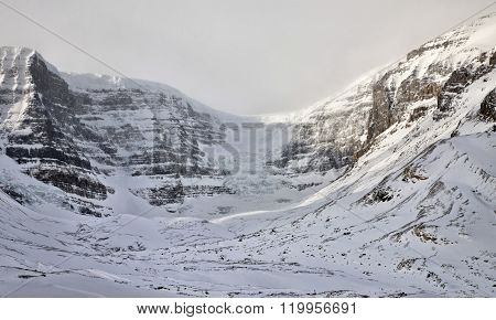 Columbia Icefields Alberta Rocky Mountains winter Canada ** Note: Visible grain at 100%, best at smaller sizes