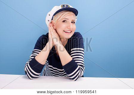 Female Sailor Woman Posing.