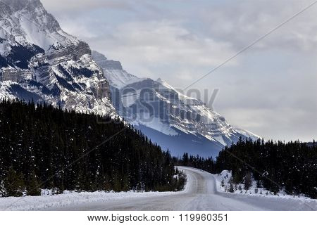 Rocky Mountains In Winter Canada