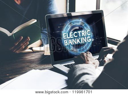 Electric Banking E-banking Technology Banking Concept