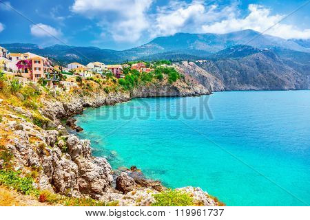Assos village on Kefalonia island, Greece