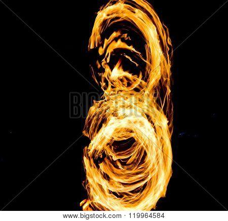 Night Performance Fiery Motion