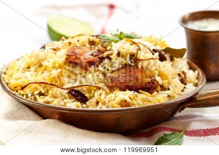Fish Biryani Indian Style Fish And Rice With Spicy Masala
