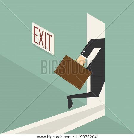 Walking To Exit Door