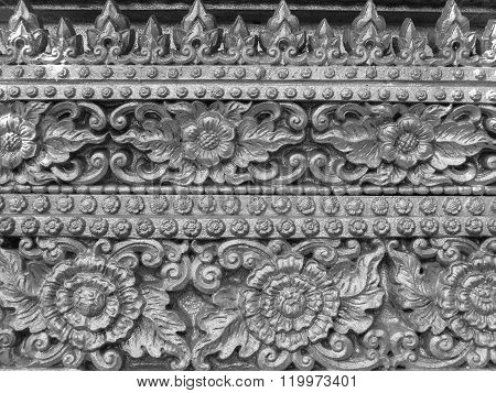 Flowers Stucco Pattern Wall Texture
