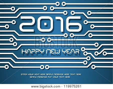 2016 Happy New Year Circuit Tecnology