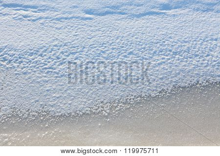 Scenic snow and ice texture background