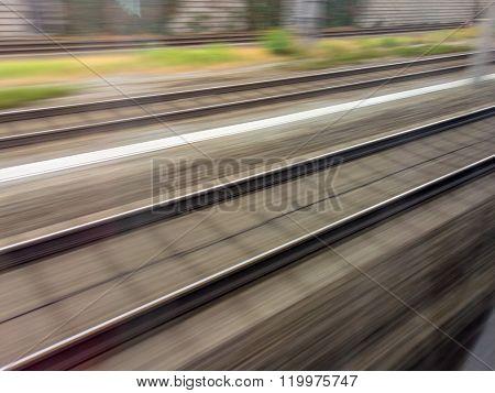 rails of railway. train
