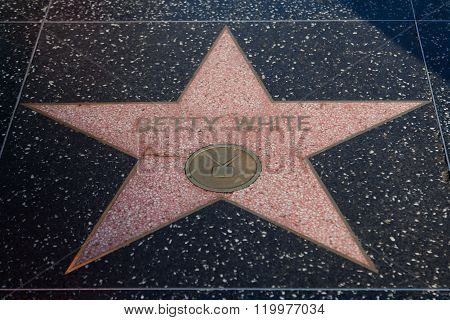 Betty White Hollywood Star