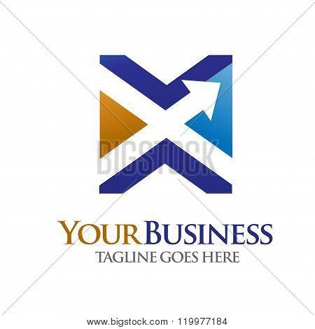 Elegant Letter X logo concept vector