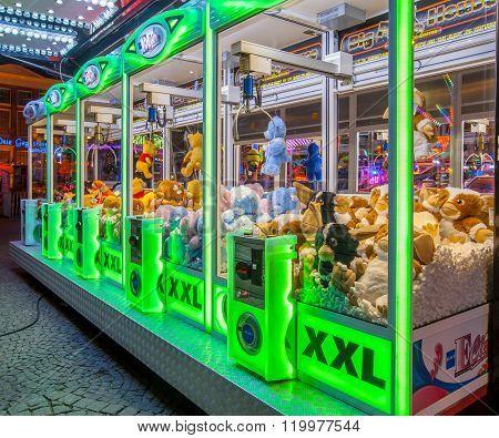 Arcade Crane Green