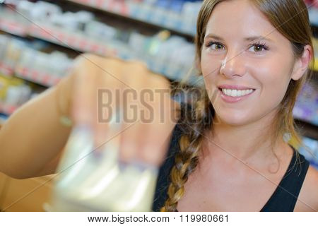 Lady holding unidentified package