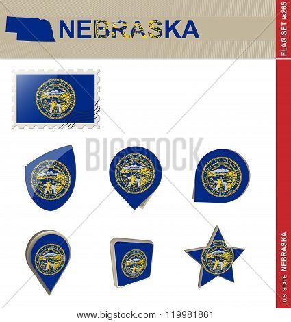 Nebraska Flag Set, Flag Set #265