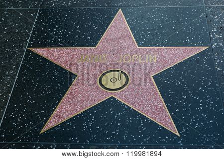 Janis Joplin Hollywood Star
