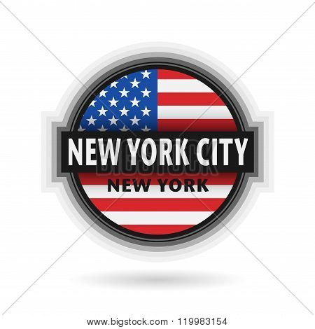 Emblem Or Label With Name Of New York City, New York