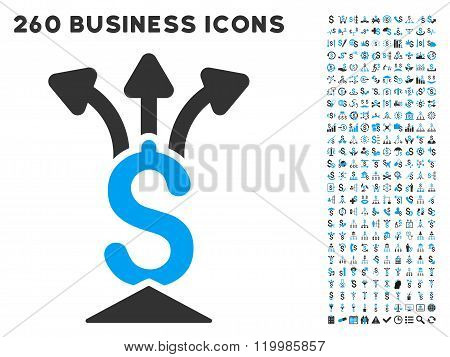 Financial Aggregator Icon with Flat Vector Set