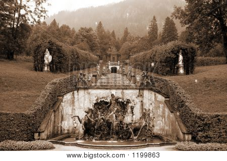 Neptune Fountain At Schloss Linderhof