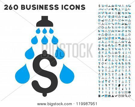 Money Laundering Icon with Flat Vector Set
