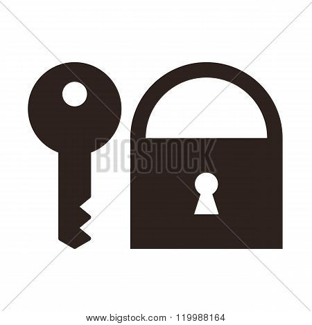Key And Padlock Icon