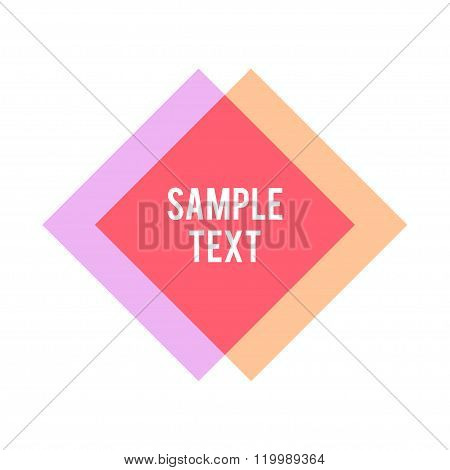 Rhombus And Square Shape With Sample Text