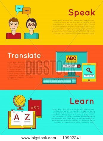 Foreign language education online.