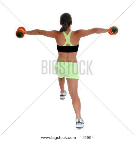 Schöne Teen Girl In Trainingsbekleidung demonstrieren Lunge