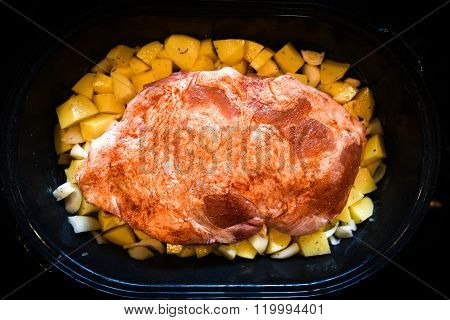 Homemade Roast Of Beef, Pork Or Lamb And Potatoes