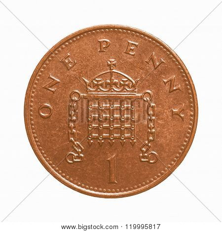 One Penny Coin Vintage