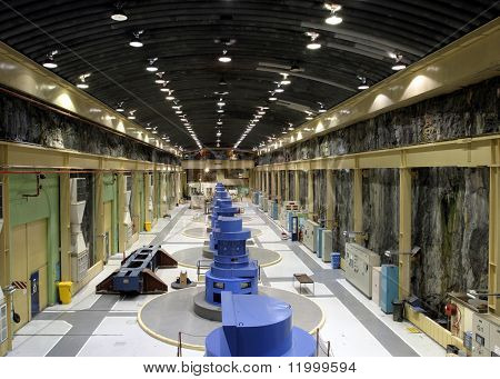 Underground Hydro-Electric Generating Station, New Zealand