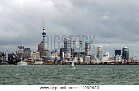 Auckland, New Zealand on overcast afternoon