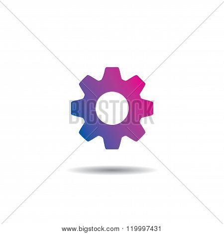 Vector Settings Logo Icon Flat Design