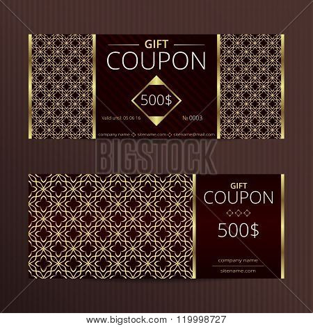 Gift voucher with elegant noble design.