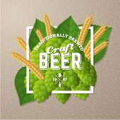 ������, ������: Vector craft beer poster