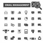 Постер, плакат: email management icons email management logo mail icons vector mail flat illustration concept ma