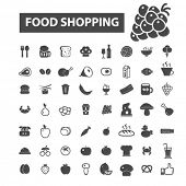 Постер, плакат: food shopping icons food shopping logo food icons vector food flat illustration concept food inf
